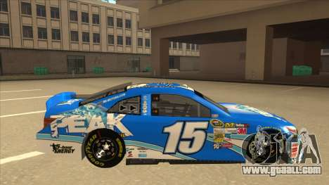 Toyota Camry NASCAR No. 15 Peak for GTA San Andreas back left view