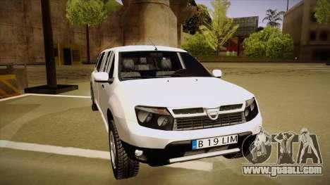 Dacia Duster Limuzina for GTA San Andreas left view