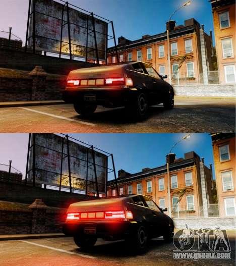 Blista new reversing lamps for GTA 4 back left view