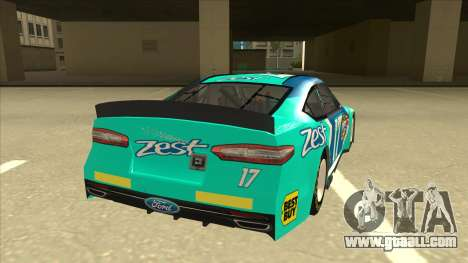 Ford Fusion NASCAR No. 17 Zest Nationwide for GTA San Andreas right view