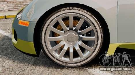 Bugatti Veyron Gold Centenaire 2009 for GTA 4 back view