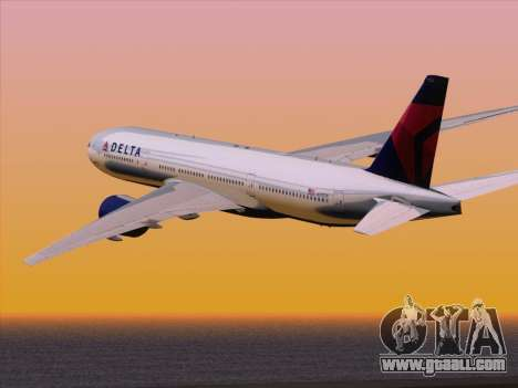 Boeing 777-200ER Delta Air Lines for GTA San Andreas side view