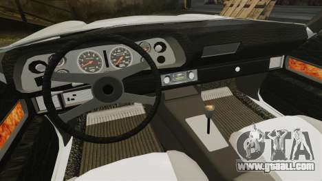 Chevrolet Camaro Z28 1970 for GTA 4 inner view