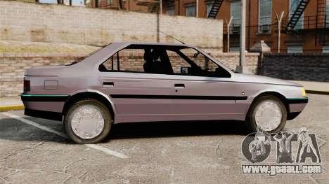 Peugeot 405 GLX for GTA 4 left view