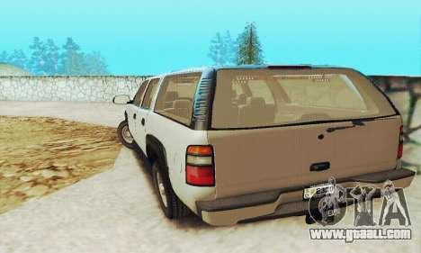 Chevrolet Suburban SAPD FBI for GTA San Andreas back view