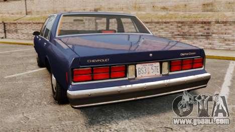 Chevrolet Caprice 1986 for GTA 4 back left view