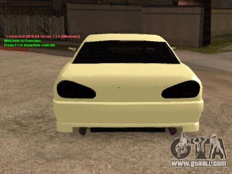 New Elegy for GTA San Andreas right view