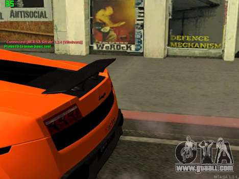 Lamborghini Gallardo LP560-4 SL UGR Altecho for GTA San Andreas back left view