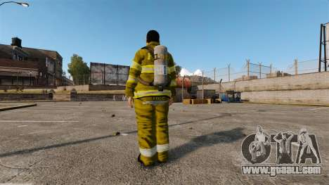 Yellow uniforms for fire fighters for GTA 4 third screenshot