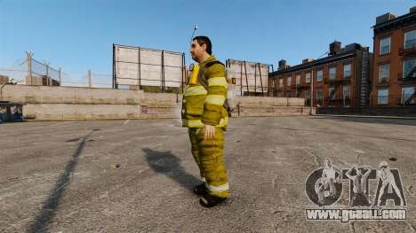 Yellow uniforms for fire fighters for GTA 4 second screenshot
