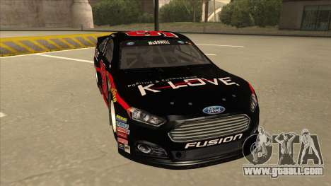 Ford Fusion NASCAR No. 98 K-LOVE for GTA San Andreas left view