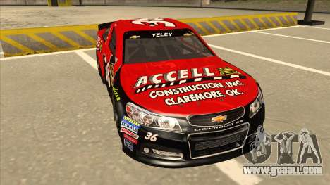Chevrolet SS NASCAR No. 36 Accell for GTA San Andreas left view