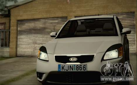 Kia Rio II 2009 for GTA San Andreas inner view