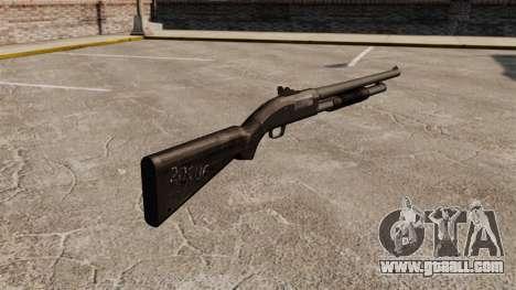 Pump-action shotgun Mossberg 590 for GTA 4 second screenshot