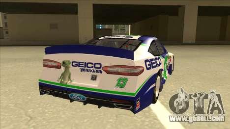 Ford Fusion NASCAR No. 13 GEICO for GTA San Andreas right view