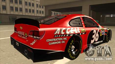 Chevrolet SS NASCAR No. 36 Accell for GTA San Andreas right view
