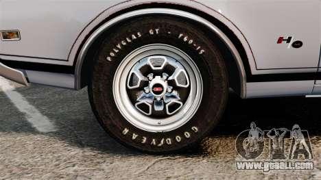 Oldsmobile Cutlass Hurst 442 1969 v2 for GTA 4 back view