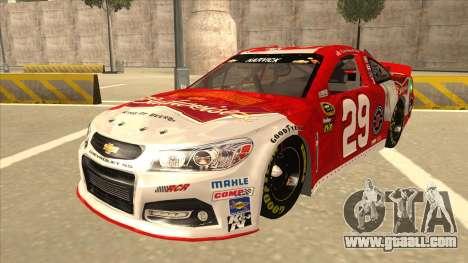 Chevrolet SS NASCAR No. 29 Budweiser for GTA San Andreas