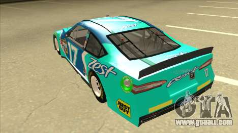 Ford Fusion NASCAR No. 17 Zest Nationwide for GTA San Andreas back view