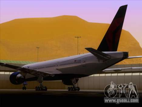 Boeing 777-200ER Delta Air Lines for GTA San Andreas back view