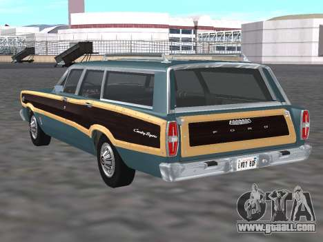 Ford Country Squire 1966 for GTA San Andreas back left view
