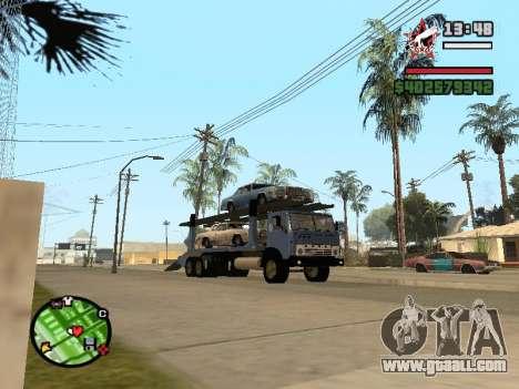 KAMAZ Truck 43085 for GTA San Andreas back left view