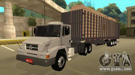 Semi-trailer for Mercedes-Benz LS 2638 for GTA San Andreas back left view