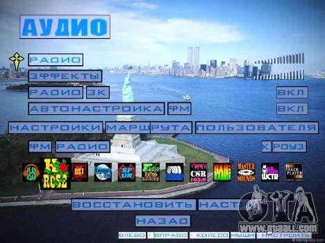 New menu and a new font for GTA San Andreas sixth screenshot