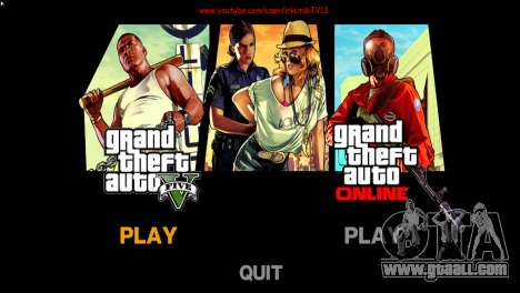 Menu and boot images in the style of GTA V for GTA 4 third screenshot