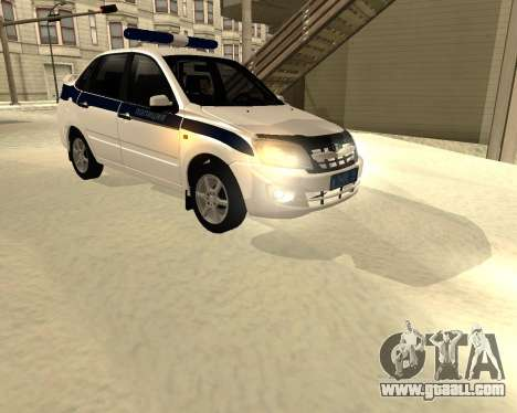 Lada Granta 2190 Police v 2.0 for GTA San Andreas left view