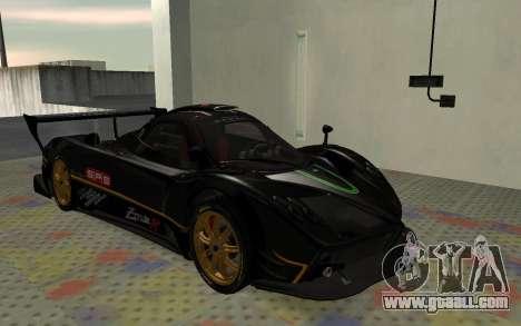 Pagani Zonda R SPS for GTA San Andreas left view