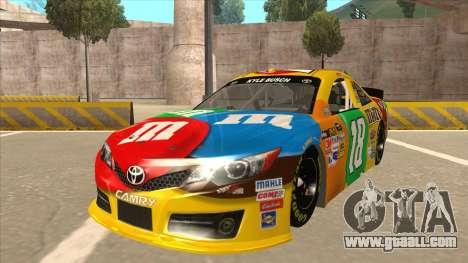Toyota Camry NASCAR No. 18 MandMs for GTA San Andreas