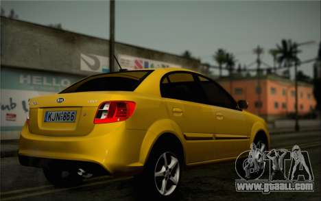 Kia Rio II 2009 for GTA San Andreas back view