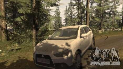 Mitsubishi ASX 2010 for GTA 4 upper view