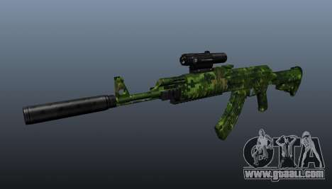 AK-74 in camouflage for GTA 4