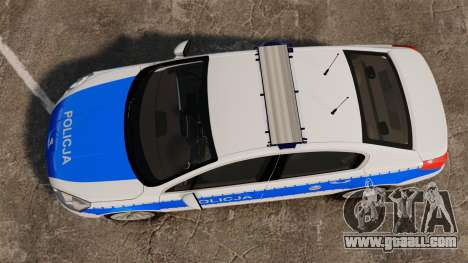 Peugeot 508 Polish Police [ELS] for GTA 4 right view