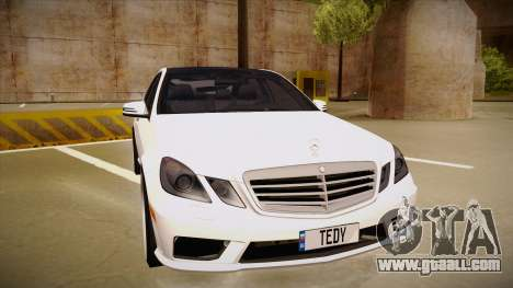 Mercedes-Benz E63 6.3 AMG Tedy for GTA San Andreas left view