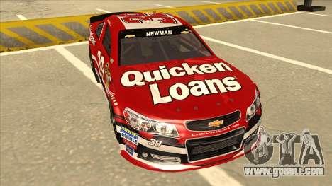 Chevrolet SS NASCAR No. 39 Quicken Loans for GTA San Andreas left view