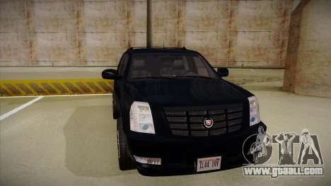 Cadillac Escalade 2011 Unmarked FBI for GTA San Andreas left view
