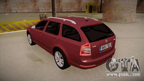 Skoda Octavia RS 2010 Combi for GTA San Andreas back view
