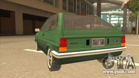 Ford Fiesta for GTA San Andreas back view
