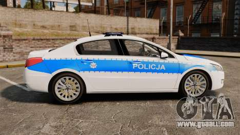 Peugeot 508 Polish Police [ELS] for GTA 4 left view