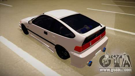 Honda CRX JDM Style for GTA San Andreas back view