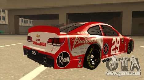 Chevrolet SS NASCAR No. 29 Budweiser for GTA San Andreas right view
