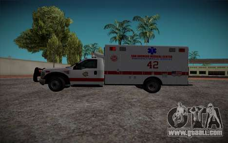 Ford F350 Super Duty San Andreas Emerency Medica for GTA San Andreas left view