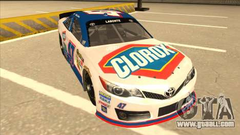 Toyota Camry NASCAR No. 47 Clorox for GTA San Andreas left view