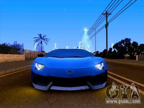 Lamborghini Aventador LP700-4 Vossen 2012 V2.0 F for GTA San Andreas upper view