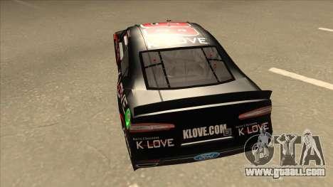 Ford Fusion NASCAR No. 98 K-LOVE for GTA San Andreas back view