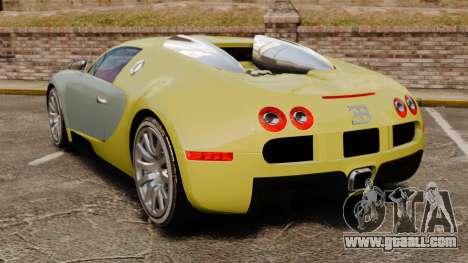 Bugatti Veyron Gold Centenaire 2009 for GTA 4 back left view