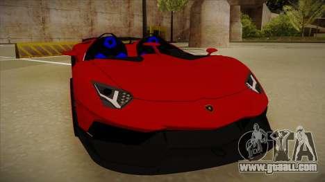 Lamborghini Aventador J V1 for GTA San Andreas left view